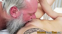 Teen sucks gramps dick and gets oral