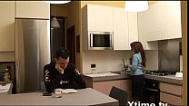Young boy confides in her mom and she comforts him with a blow job