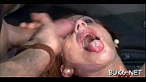 Lusty chaps are spraying their cumshots into babe's face hole