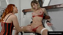 Bound Reagan Lush Tied Up & Titty Twisted By Ke...