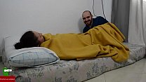 She is s. and he wakes her up by rubbing her pussy  IV