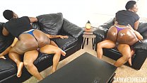 Ebony BBW Stepsister Riding and Grinding | Clip preview image