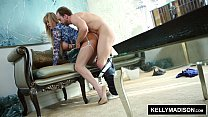 KELLY MADISON - Blue Lingerie Seduces Her Man صورة