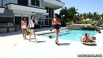BANGBROS - Adriana Chechik, Janelle James, and Veronica Radke Lesbian Threesome