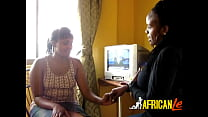 Thick Kenyan lesbians murder pussy with sex toys