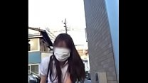 Japanese girl masturbate in public place and toilet