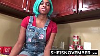 9091 Sexy Ebony Big Tits Step Sister Msnovember Give Blowjob & Sex In Kitchen Cooking preview