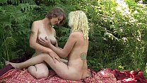 Sexy Lesbians Ruby And Mira Masturbating Their Twats