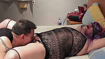 Erotic games with my neighbor and I cum on her ass