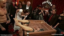 Slut boxed and fucked in public