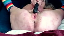 horny milf and husband love to fuck He blows a big load on her pussy