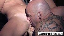 Sexy Dani Daniels has a hot black light threesome!