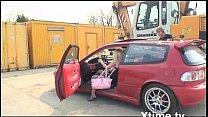 y. slut fucked on the hood of the car