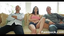 Best friends trick step sis into brotherly gangbang  |FamSuck.com video