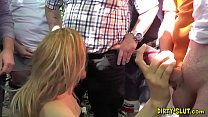 Naughty wife Nicole fucked by many men at public places Vorschaubild