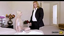 DADDY4K. The young lady cheats on her groom with an old man on the wedding day