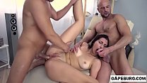 Natural born bitch Henna Ssy goes double penetration threesome