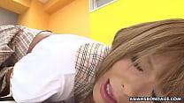 Horny schoolgirl, Tsubasa Miyashita is masturbating