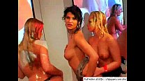 Lesbian chicks lick babes and dance