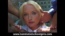 schoolgirl c. On Orgy Cocks