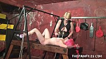 Lesbian spanish slavegirls sexual submission and hardcore bdsm of Lola by stern