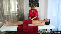 Perverted big ass redhead Penny Pax massage professional sucks cock before sex