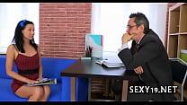 Tricky teacher seducing student Image