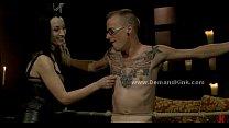 Malicious dominatrix fucks man sex slave in extreme bondage female domination - 69VClub.Com