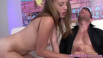 Real teen tugging stepbrothers hard cock