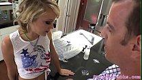 Dominant petite babe pegs her boyfriend