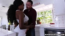 Hot black stepdauhter Daya Knight fucks with stepdad