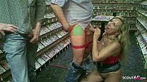 German m. Bi Jenny Fuck with Stranger in Porn Videothek