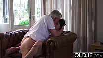 Old and Young Porn - Babysitter pussy fucked by old man and swallows cum Vorschaubild