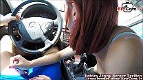 Bowjob in car while driving from german redhead skinny exgirlfriend slut