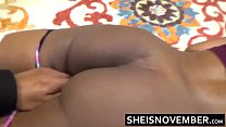 Attractive Young Ebony Blonde Msnovember With Big Tits & Ass Felt Up By Cheating White Man Hd Sheisnovember صورة