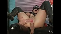 Slave in latex violently ass fucked