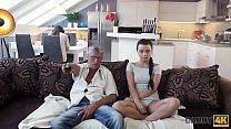 Daddy4K. Horny Brunette Unleashes All Lust On Boyfriend's Old Daddy