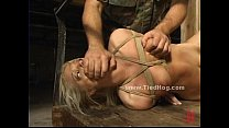 Sexy blonde slut immobilized and bound image