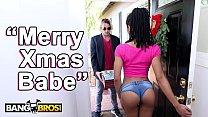 BANGBROS - Black Pornstar Kira Noir Takes Anal From Her Boyfriend Tyler Nixon On Christmas
