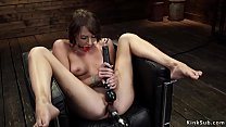 Shackled brunette machine banged thumbnail
