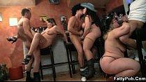 Hot group BBW orgy in the bar porn thumbnail