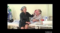 Granny watches grandpa fucks nurse in hospital video