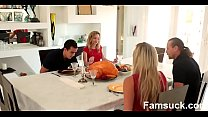 Step Sister Sucks And Fucks Brother During Thanksgiving  Dinner   |FamSuck.com Thumbnail