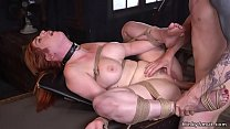 Huge tits redhead pounded in bondage