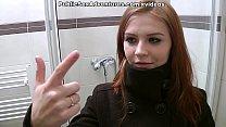 Redhead with innocent face doing perverted stuff in the public toilet Vorschaubild