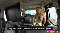 Female Fake Taxi Shocked Firemans hose gets drained preview image