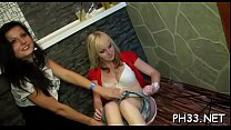 Darksome waiter hard fucked girls squeezing their pantoons and sloping asses