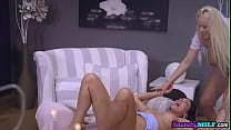 Busty lesbian milfs pussylicking during erotic sixtynine