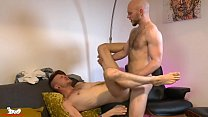 Kieron shoves his thick cock deep into Orson's tight hole