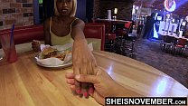 5948 4k Msnovember Flashing Her Titties, Eating Food, And Talking About A Scary Movie With Her Boyfriend To Avoid Him Talking About Her Cheating, Pulling Out Huge Natural Boobs With Black Nipples And Round Areolas Hd Sheisnovember preview